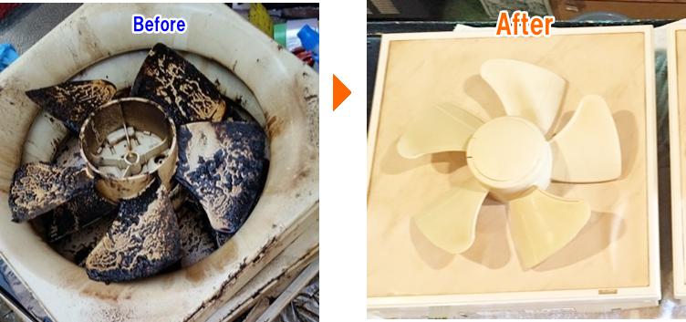 プロペラのお掃除前後の比較