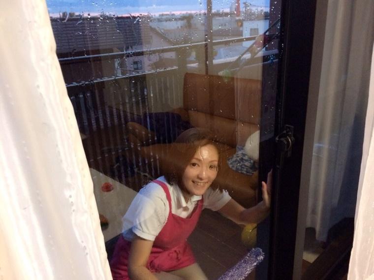 窓掃除の様子
